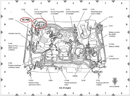 2005 Ford Mustang Engine Diagram