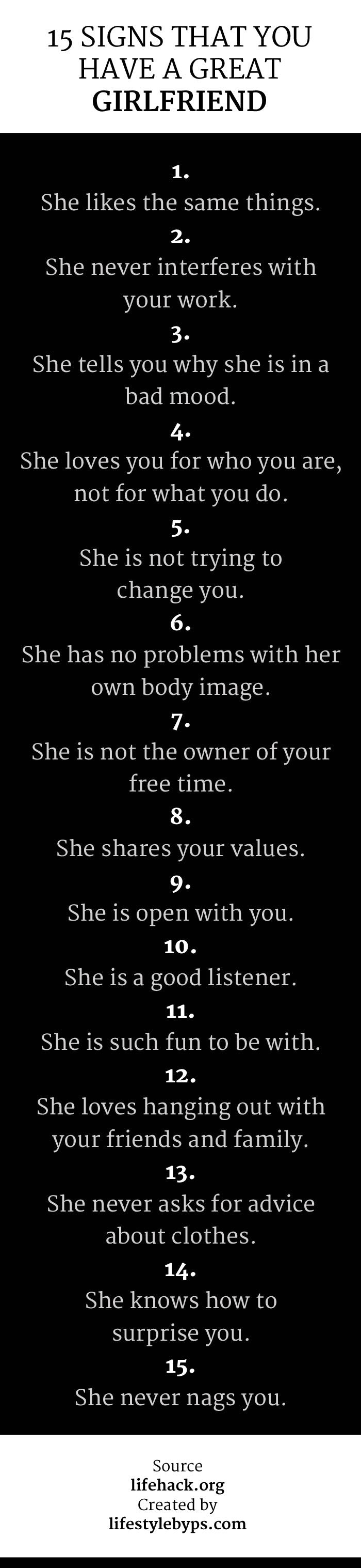 15 Signs That You Have A Great Girlfriend