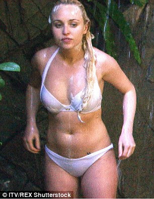Seeing double? Jorgie looked sensational in a white bikini which closely replicated the two-piece which placed Myleene Klass in the I'm A Celebrity hall of fame during her sexy appearance in the show's 2006 series