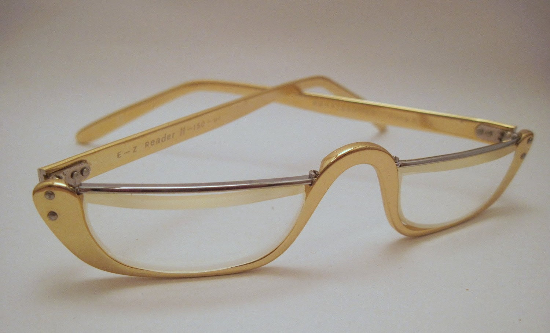 SALE - Gold Frame Granny Reading Glasses
