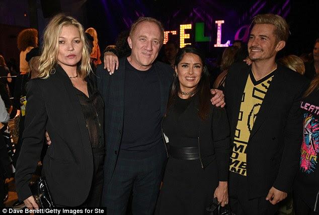 Em boa companhia: (L a R) Kate, François-Henri Pinault, Salma Hayek e Orlando Bloom todos aproveitam as festividades