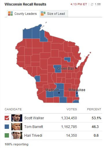 Wisconsin Recall Map