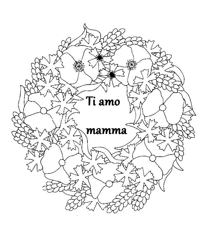 Disegno Da Colorare Festa Della Mamma 7