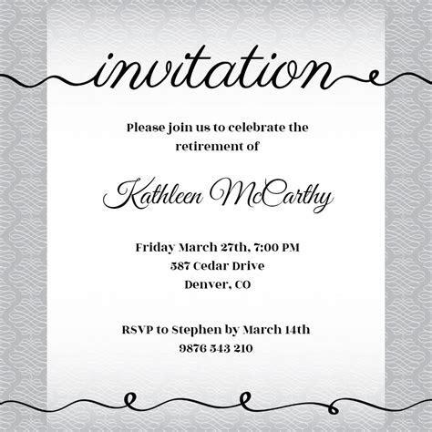 Creative Cursive   Printable Party Invitation Template