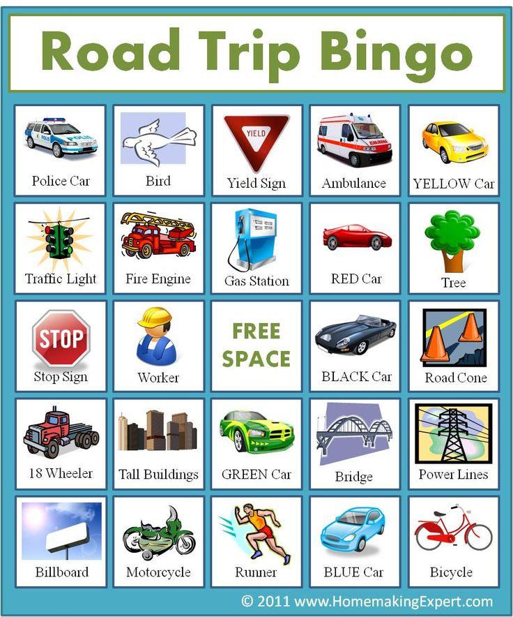 1000+ ideas about Road Trip Bingo on Pinterest   Road trip ...