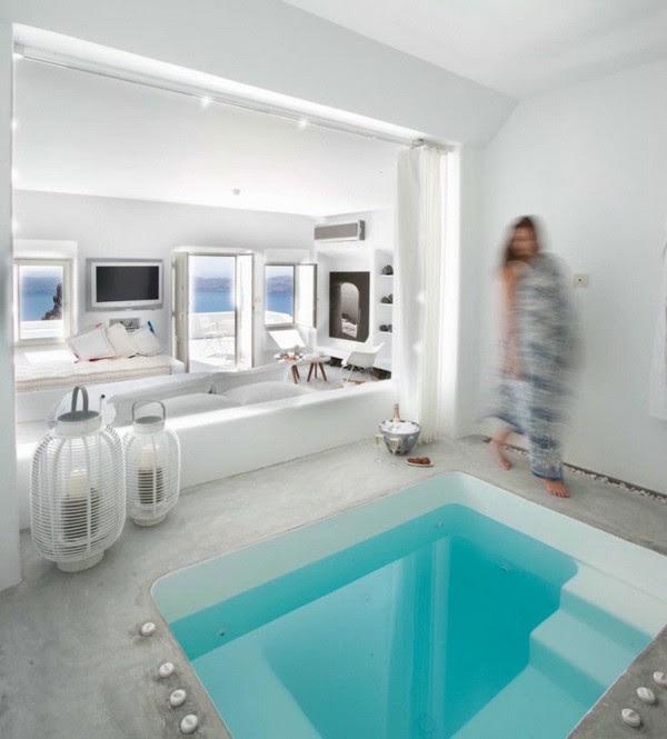 Greek design: Living room with pool inside | MyHouseIdea