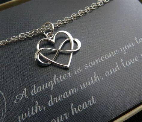 Gift for daughter from mom, infinity heart bracelet