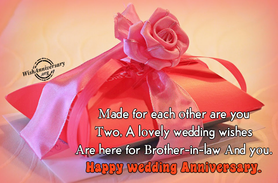 Anniversary Wishes For Brother In Law Pictures Images