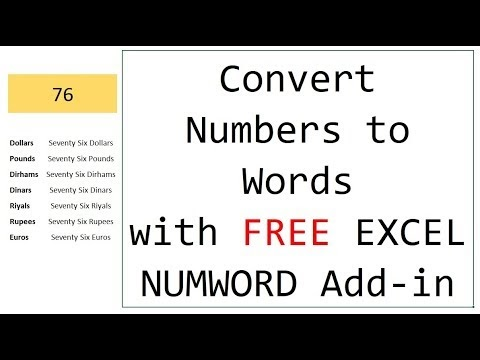 Convert Numbers to Words/Text in Excel WITHOUT pasting macros again! – INWORD Excel Addin
