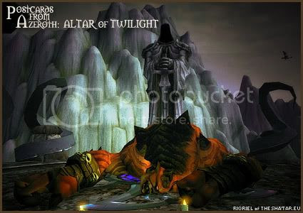 Postcards of Azeroth: Altar of Twilight, by Rioriel of theshatar.eu