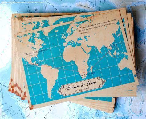 Vintage Map Wedding Invites   WED FEST   my destination