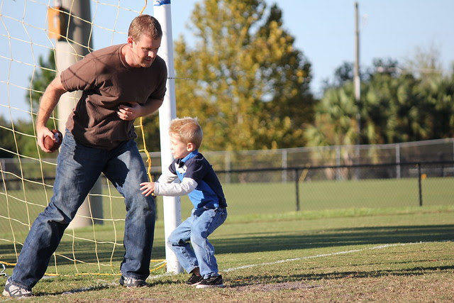 Playing Football with Daddy
