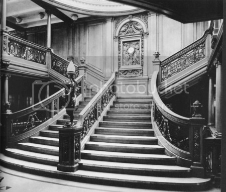 The Titanic's grand staircase
