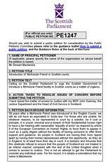 McKenzie's friend Petition PE1247 Page 1
