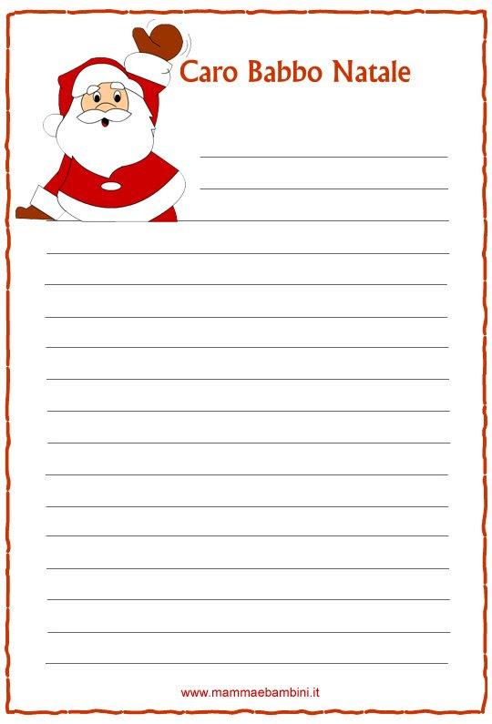Letterine Di Natale Da Stampare N1 Mamma E Bambini