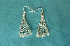 Knitted earrings - subtle
