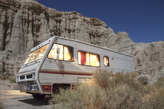 Wes's RV at Redrock Canyon State Park