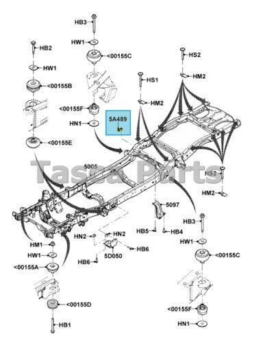 Ford Ranger Frame Parts Diagram