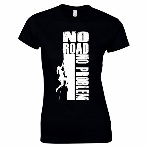 Women's No Road, No Problem Rock Climbing TShirt Great Gift Idea