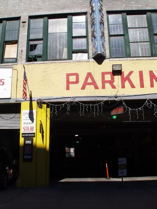 garage on Kenmare Street, Manhattan, NYC