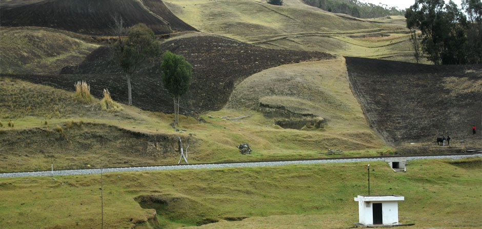 Fields around Riobamba, Ecuador