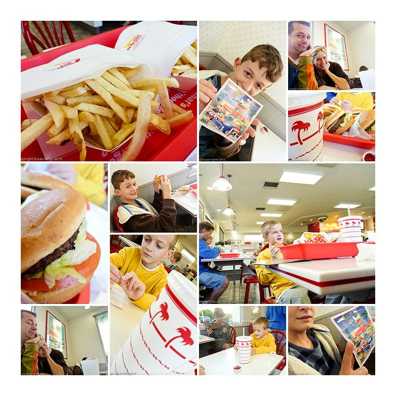 in n out collage