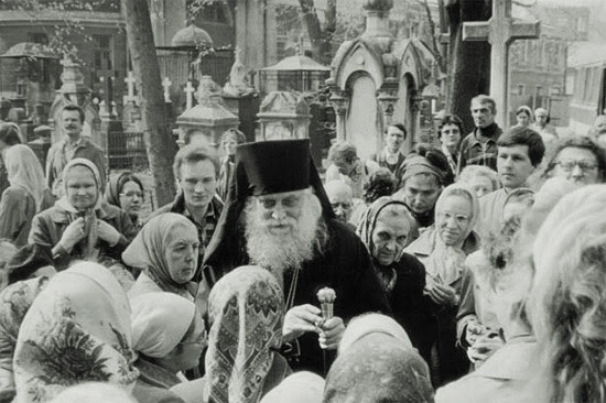 Bishop Basil blessing the fatihful in Russia. Photo: bishop-basil.org