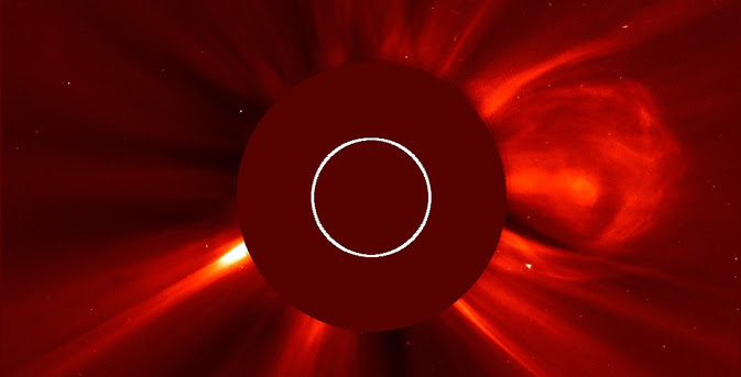 SOHO image of a CME