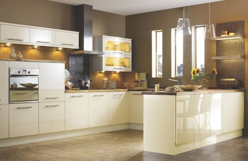 Contemporary White & Cream Kitchen Design Ideas | Home Interior ...
