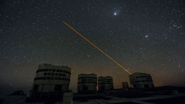 Pesquisadores sugerem usar laser para esconder Terra de alienígenas (Foto: ESO)