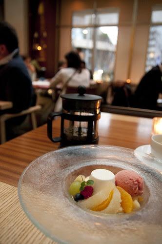 Macedonia of Fruit, Panna Cotta, Seasonal Sherbet, Italian Cafe Fiorentina, Grand Hyatt Tokyo, Roppongi