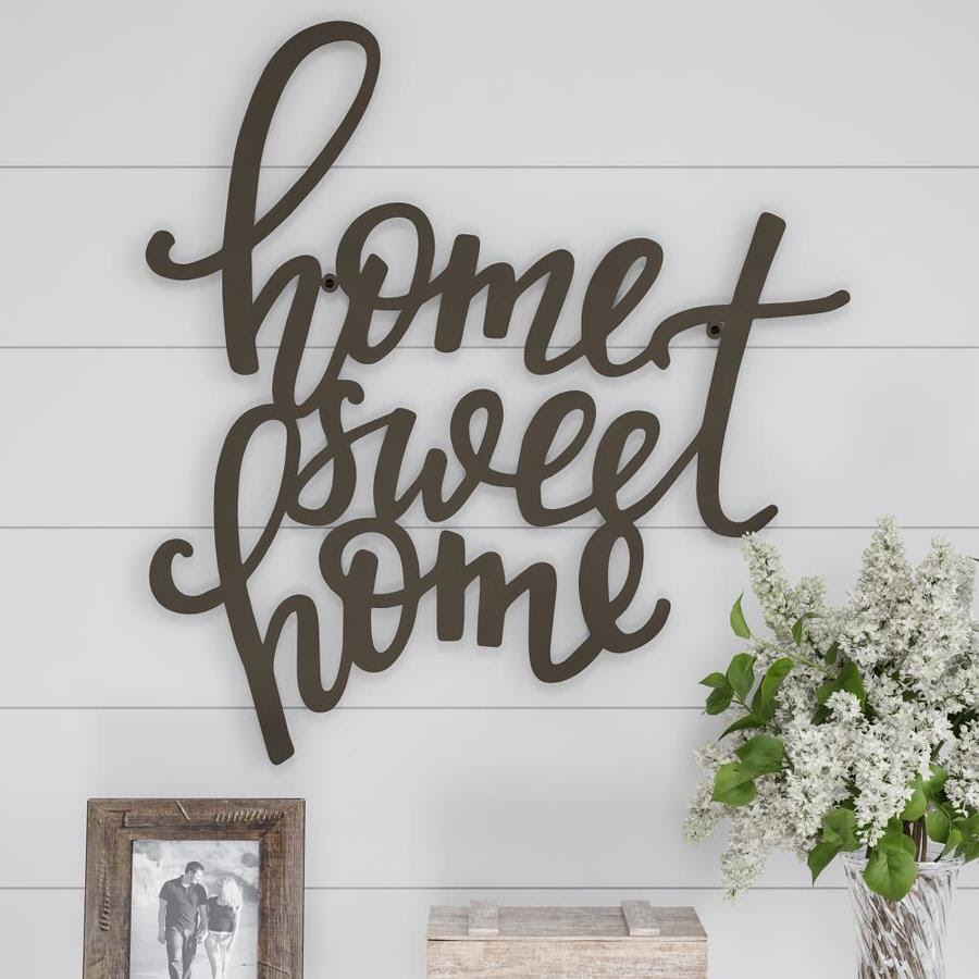 Hastings Home Metal Cutout Home Sweet Home Decorative Wall Sign 3d Word Art Home Accent Decor Perfect For Modern Rustic Style By Hastings Home In The Wall Accents Department At Lowes Com
