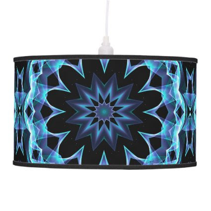 Glowing Stars, Abstract Crystal Teal Light Pendant Lamp