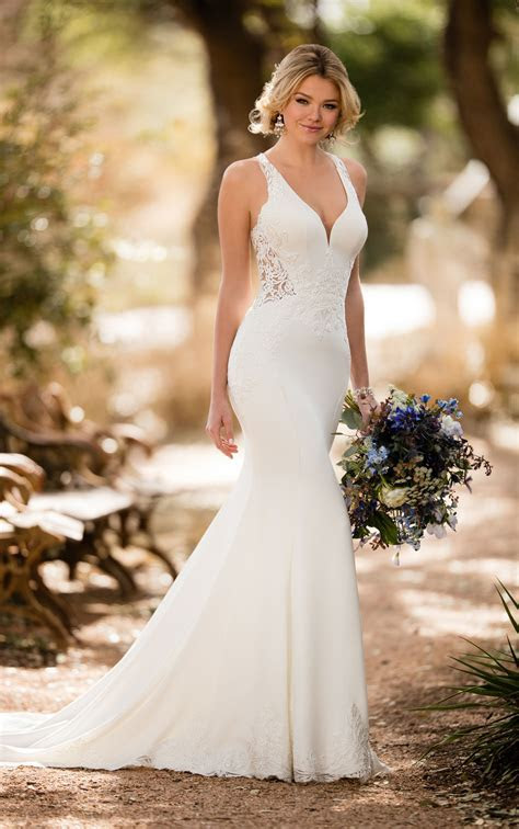 Beach Wedding Dresses   Sheer Beach Wedding Gown   Essense
