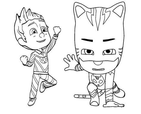 catboy  romeo pj mask coloring  drawing