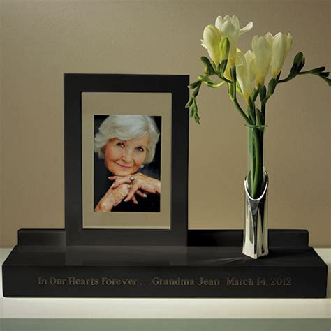 Black Personalized Wooden Memorial Display Stand with