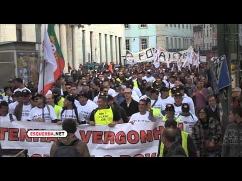 Greve geral em Portugal contra a austeriade
