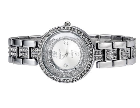 Stylowy Zegarek Damski Kwarcowy Okrągła Tarcza Pięknie Zdobiony