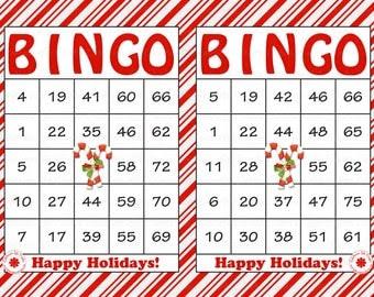 Bingo game holiday printable | KEMS
