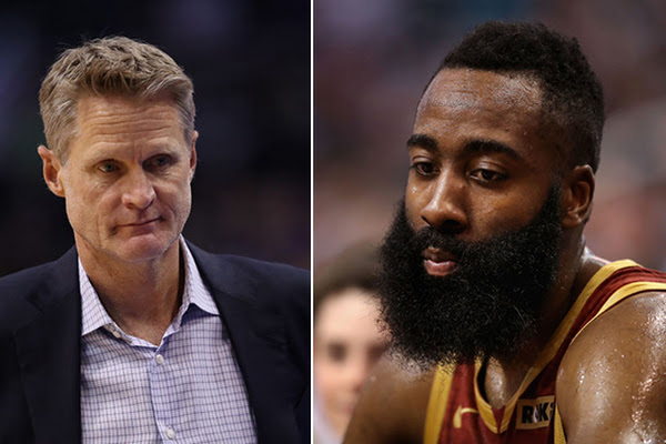 0823c56546a Steve Kerr tells James Harden Arizona is a  better school  than ASU