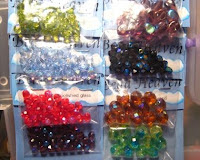 fire polished glass Czech beads in various colors