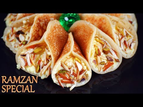 Ramzan Particular   Qatayef Recipe   अतायफ़ रेसिपी   Ramadan Arabic Sweets Recipes
