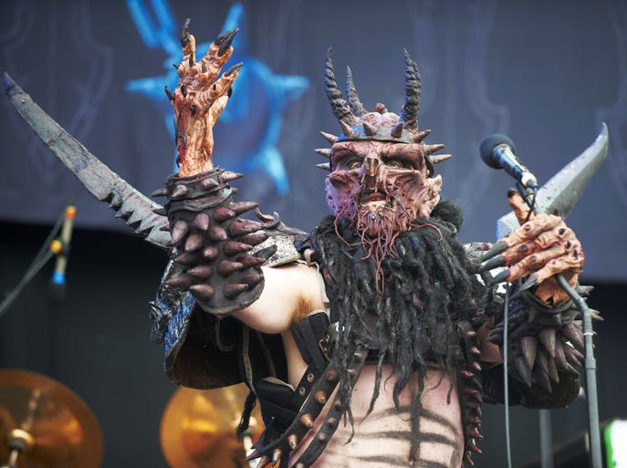 DAVE BROCKIE | March 23 (age 50) | GWAR's longtime frontman, aka Oderus Urungus, skewered the metal paradigm with creepy costumes, over-the-top antics and profane lyrics.