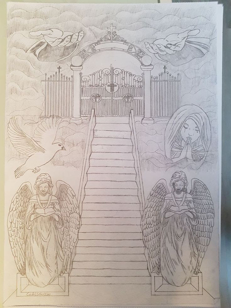 Heaven Gates Drawing At Getdrawingscom Free For Personal Use