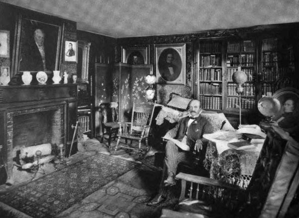 Plate LV.—Library, Franklin Pierce House.