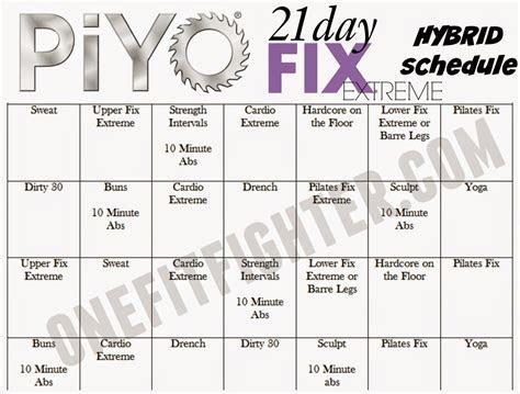 piyo  day fix extreme hybrid calendar google search