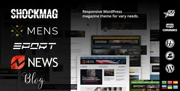 Shockmag - Magazine/Blog Theme for vary needs | WordPress