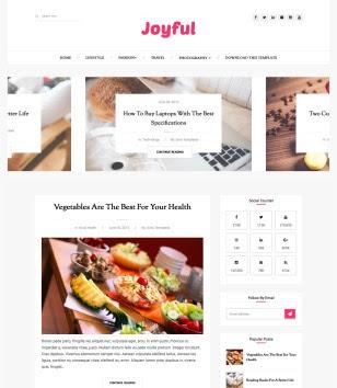 JoyFul Fashion Blogger Templates