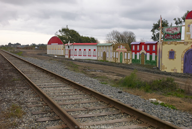 the train leads to christmas town