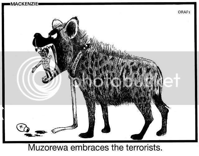 Muz, Muzorewa Embraces the Terrorists